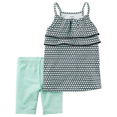 068ba517 New Carter's Infant & Toddler Girls' Tank Top & Knit Shorts 2 Pc Set Outfit