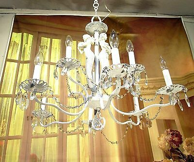 Antique Vintage Chandelier Mermaids White Chic Crystal Pendant FIXTURE LAMP