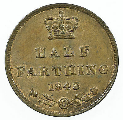 Great Britain, Victoria Half-Farthing, Traces Of Lustre, 1843