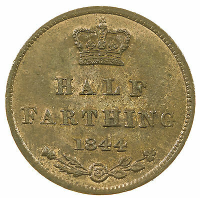 Great Britain, Victoria Half-Farthing, High Grade With Lustre, 1844
