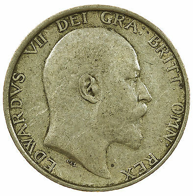 Great Britain, Edward Vii Shilling, Silver, 1909