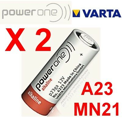 Lot de 2 piles MN21 POWER ONE by VARTA 12 Volts LR23A GP23A V23GA A23 -Bulk-