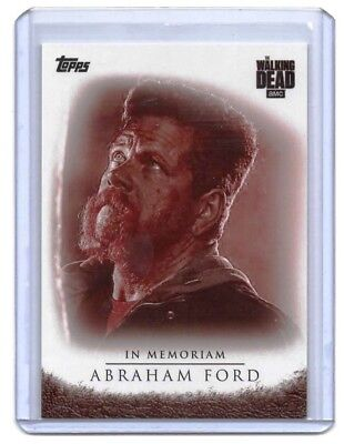 The Walking Dead Season 7  Abraham Ford In Memoriam BLOOD Trading Card # 08/10