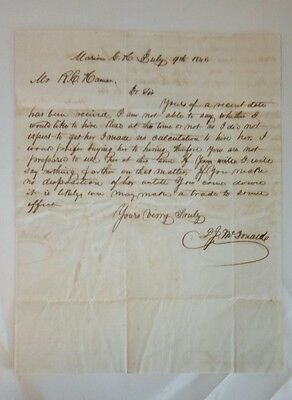 Interesting 1846 South Carolina Slave Hire/Purchase/Trade Document Letter