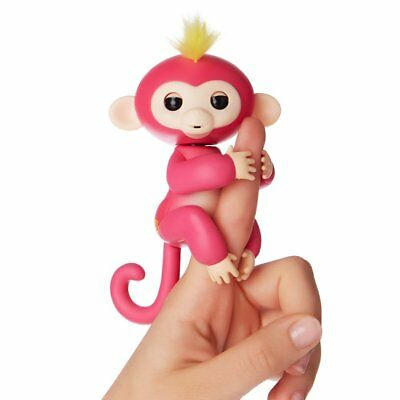 Electronic Fingerlings Monkey Pink Interactive Children Baby Kids Toy