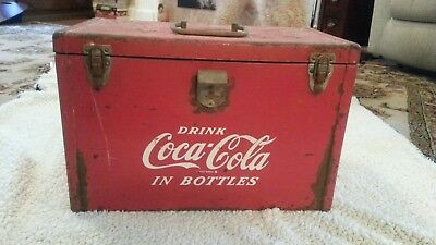 "Vintage Coca Cola Ice Chest ""I'd like to teach the whole world to sing"""