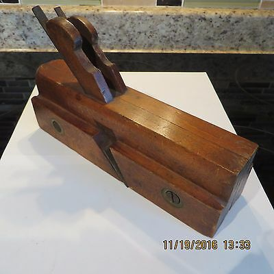 """Antique Wooden Plane #1 ~ Signed By """"j.barclay"""" Double Cutters"""