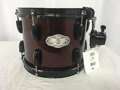 """Pearl Vision VX 10"""" Diameter X 8"""" Deep Mounted Tom/# 91/Red Wine/Brand New"""