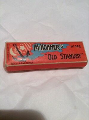 "Vintage M. HOHNER's ""OLD STANDBY"" No. 34B Harmonica in its Original Box - C Key"
