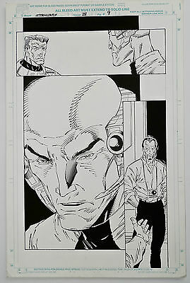 Original Comic Art-Stormwatch #28-Page 9-Ron Lim Pencils, Robert Jones Inks-COA