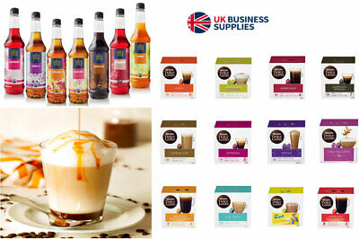96 Dolce Gusto Pods Free 750ml Tate & Lyle Coffee Syrup of Your Choice