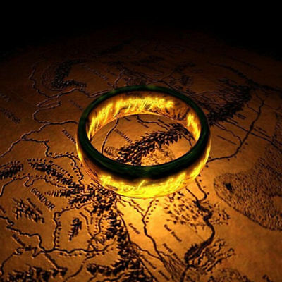 4mm Lord of the Rings Stainless Steel Men Women Engagement Band rings Size 6-13