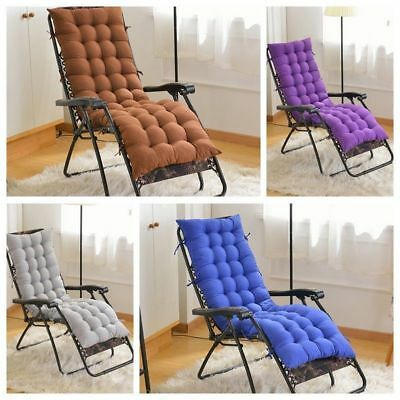 Cotton Seat Pad Replacement Cushion Pad For Garden Sun Lounger Recliner Chair
