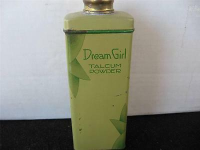 Vintage Dream Girl Talcum Powder Tin, Rare Collectible
