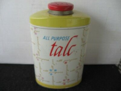 Vintage WALGREEN DRUG STORE All Purpose Body Talc Powder Tin