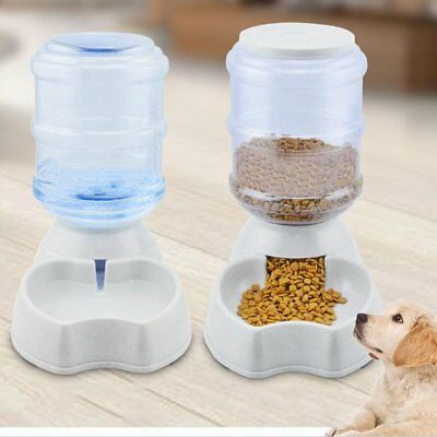 New Automatic Feeder Pet Dog Cat  Water Drinker Dispenser Food 3.5L Large Bowl