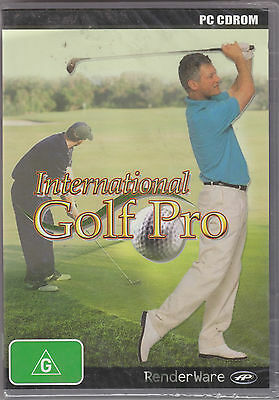 RenderWare PC CDROM INTERNATIONAL GOLF PRO 2004 - Made in England - NEW IN BOX