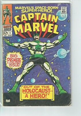 Captain Marvel #1 1967  G++  Silver Age Key  STK2