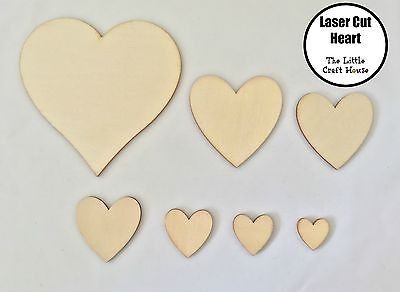 Wooden Heart Laser Cut Love Ply Blank Hearts Wood Shape Shapes Scrapbooking