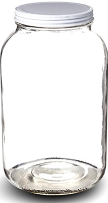 Glass Jar Wide Mouth With Airtight Metal Lid Bpa Free Dishwasher