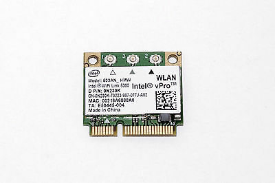 Dell Inspiron Dual Band Wireless WIFI Link N Card 1428 1545 1750 450 Mbps TESTED