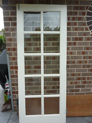 French door  exterior/interior 2035 x 820  (clear  glass panels)