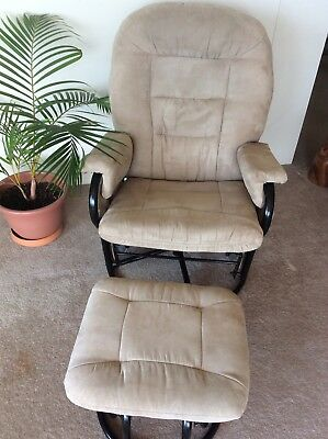 VALCO RELAX GLIDER Rocking Feeding Chair With Ottoman EUC