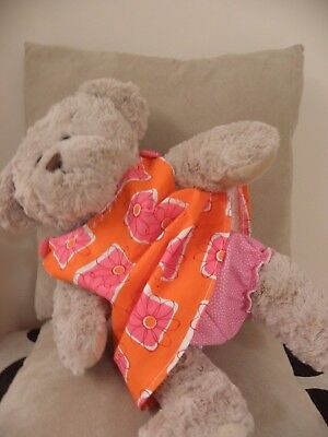 Print sundress and bloomers set fit pumpkin patch teddy bear 15 inch BAB girls
