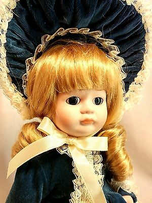 """Dynasty Collection QVC Vintage Victorian Sally 12"""" Porcelain Bisque Doll MIB"""