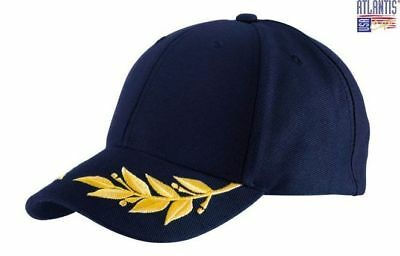 Atlantis Winner Cap  Navy With Embroidered Laurel Wreath Formula 1 New