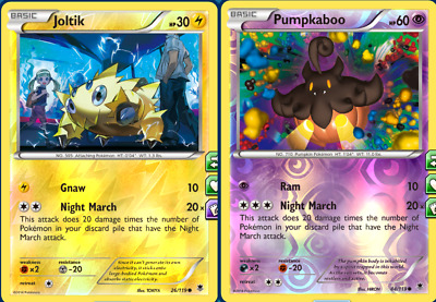 FOIL Night March PLAYSET for Expanded Pokemon TCG Online PTCGO (in game)