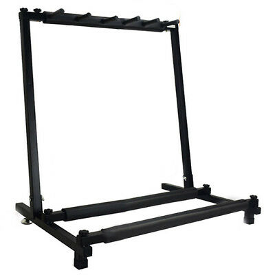 PF New 5 Way Multi Folding Guitar Rack Stand by Chord For Electric Bass Acoustic