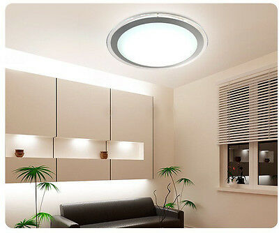 * New 20W Silver Circel Aluminum+Acrylic LED Lamp Ceiling Light Panel Lighting