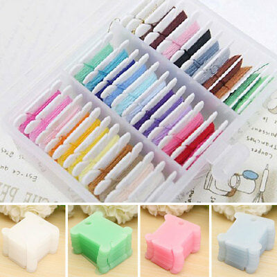 1Pcs Embroidery Plastic Thread Bobbin Cross Stitch Floss Craft Storage Bobbins