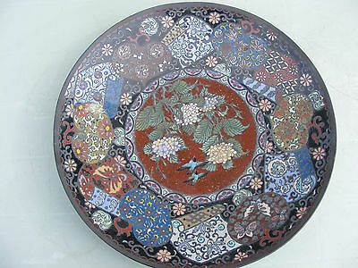 Antique Japanese Meji Period Cloisonne Charger