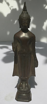 19th Century ANTIQUE BRONZE SUKHOTHAI BUDDHA TEMPLE RELIC