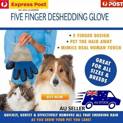 New True Touch Cleaning Brush Glove Pet Dog Massage Cat Hairs Removal Grooming