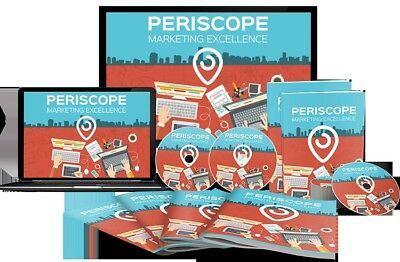 Periscope Marketing Excellence - 9 Videos on 1 cd/Easy Blueprint + resell rights