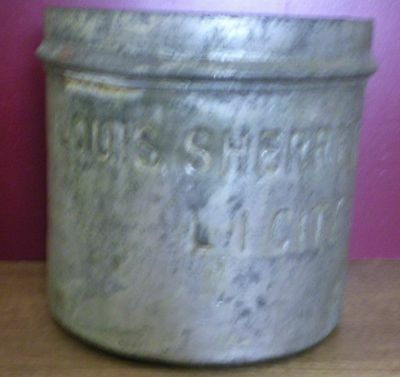 Vintage 2 Gal Long Island Louis Sherry Inc Commercial Candy Ice-Cream Tin