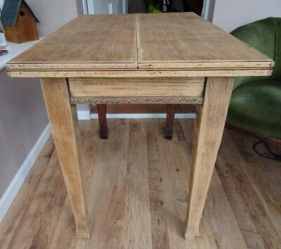 Antique Vintage Smith And Smith Fold Out Oak Table Project