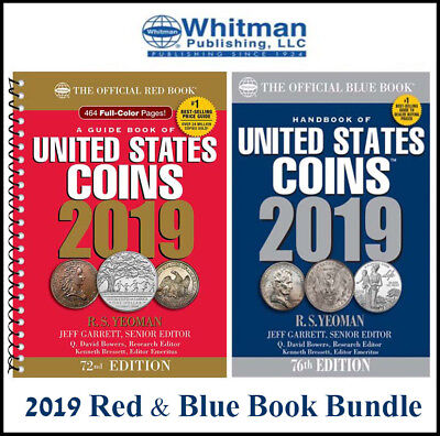 New Official 2019 Red Book Price Guide United States US Coin + Blue Book New Lot