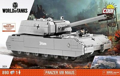 COBI Panzer VIII Maus / 3024 / 890 elem bricks WWII German super tank Small Army