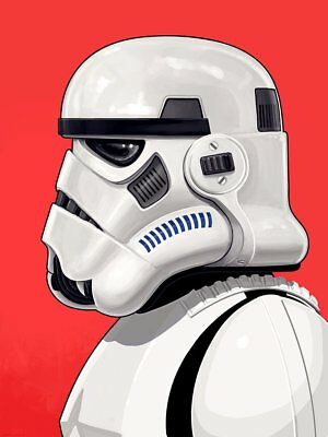 Storm Trooper Mondo Star Wars Mike Mitchell Signed And Numbered 2395/2460