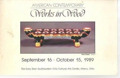 mm - 1989 American Contemporary Works in Wood Art Exhibition Catalog ATHENS Ohio