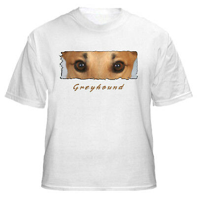 "Greyhound "" The Eyes Have It"" Custom Made  T shirt"