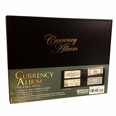 Currency Album For Large Banknotes Collection 8 Pages 32 US Bill Collector Gift