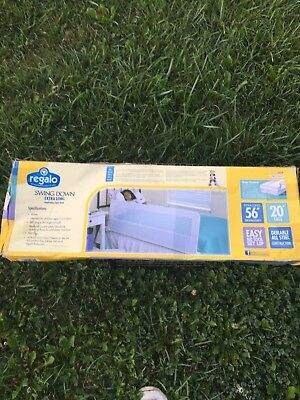 """Regalo Swing Down Extra Long Portable Bed Rail 56"""""""