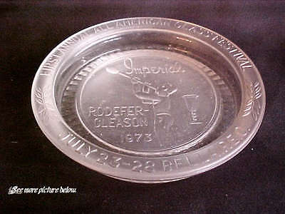 Vintage Imperial Glass 1973 First Annual Glass Festival Crystal Satin Pin Dish