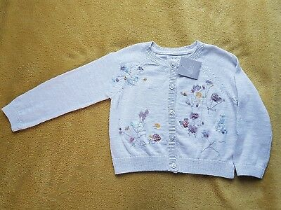 NEXT BNWT baby girl champagne emboidered cardigan size 12-18 months