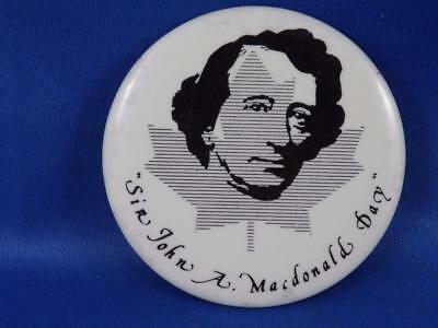 Sir John A Macdonald First Prime Minister CANADA 1867 COLLECTOR BUTTON PIN BACK